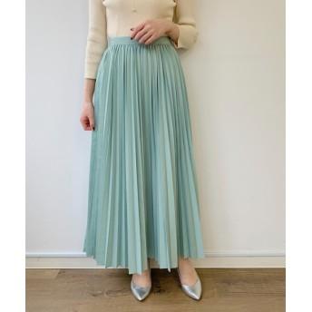 Loungedress(ラウンジドレス) レディース ギャザープリーツスカート ミント
