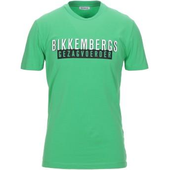 《セール開催中》BIKKEMBERGS メンズ T シャツ グリーン S コットン 92% / ポリウレタン 8%