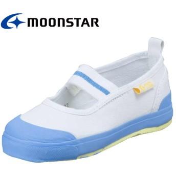 ムーンスター キャロット 子供靴 CR ST11 サックス 足の成長と健康をサポートする上履き(14.5cm)