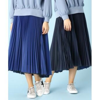 LUMINOSO COMMECA/ルミノーゾ・コムサ リバーシブル プリーツスカート ブルー×ネイビー 11号
