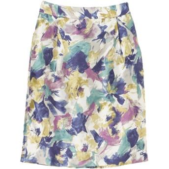 【6,000円(税込)以上のお買物で全国送料無料。】P.ぼかし花柄タックタイトスカート