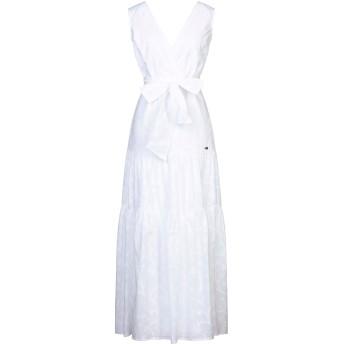 《セール開催中》CAVALLI CLASS レディース ロングワンピース&ドレス ホワイト 40 コットン 100%