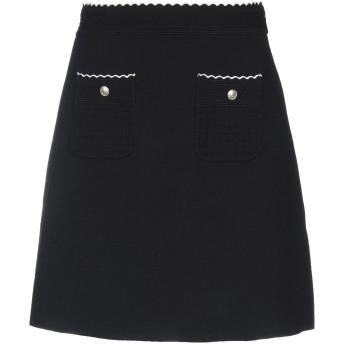 《セール開催中》SANDRO レディース ミニスカート ブラック 0 レーヨン 83% / ナイロン 17%