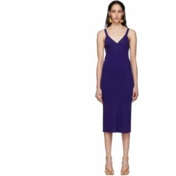 ハイダー アッカーマン Haider Ackermann レディース ワンピース キャミワンピ ワンピース・ドレス Blue Midi Camisole Dress Durero blu