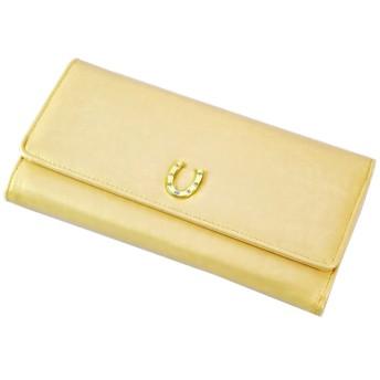 女性用 レディース 長財布 ウォレット 小銭入れ付 シンプル 蹄 デザイン チャーム付き