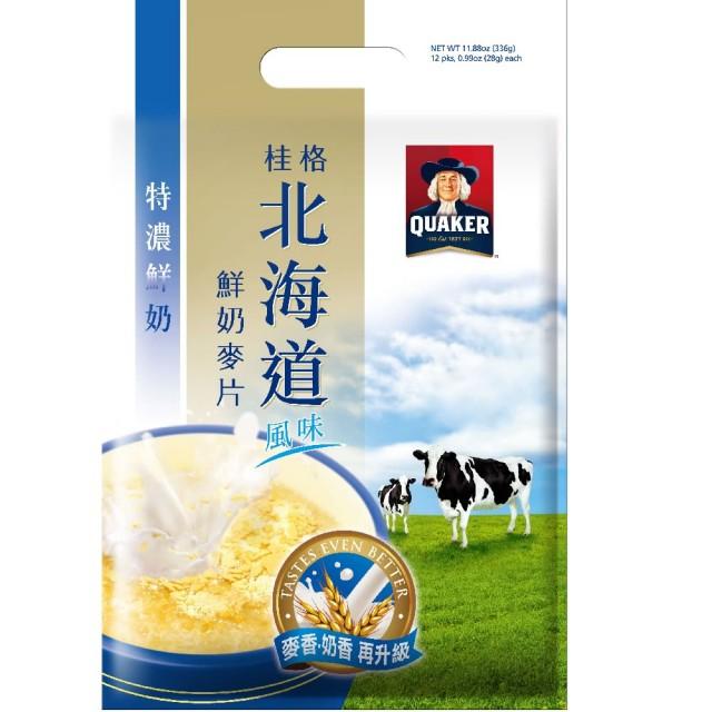 桂格 北海道特濃鮮奶麥片(12包/袋)
