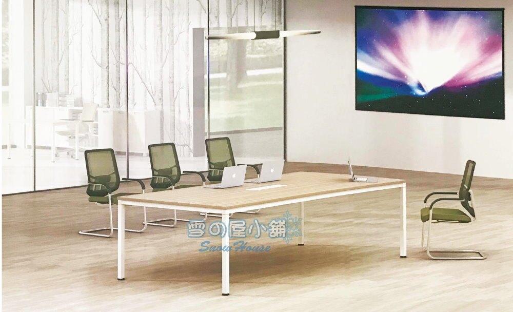 ╭☆雪之屋居家生活館☆╯LF-97 會議桌(白橡面/白色腳/三胺板)R1199-02