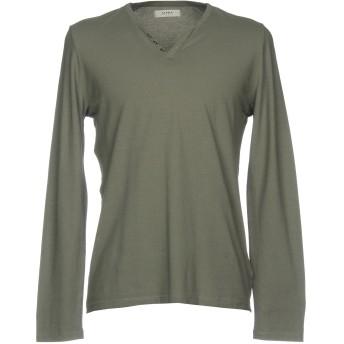 《セール開催中》ALPHA STUDIO メンズ T シャツ グレー 48 コットン 100%