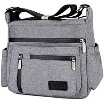 Multi Pocket Shoulder Bag Crossbody Bag for Women Travel Purse Work Bag (並行輸入品)