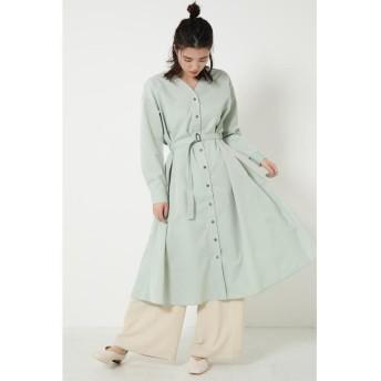 シェルターセレクト フレアシャツワンピース(Flare Shirt Dress) レディース L/GRN1 FREE 【SHEL'TTER SELECT】