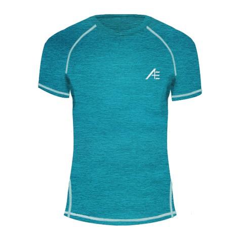 【Attis亞特司】中性機能短袖上衣 湖綠+線水藍