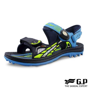 【G.P 兒童柔軟PLUS磁扣兩用涼拖鞋】G0702B-藍色 (SIZE:31-37 共三色)