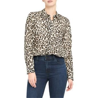 [セオリー] レディース カットソー Theory Leopard Print Silk Button-Up Shir [並行輸入品]