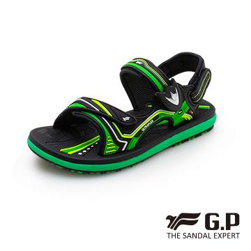【G.P 兒童休閒磁扣兩用涼拖鞋】G0711B-綠色 (SIZE:28-34 共三色)