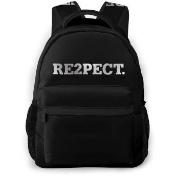 Re2pect. 学校/スポーツバックパック、カジュアルなユニセックススタイルの大学の学校のバッグ/ラップトップバッグ男性用女性。