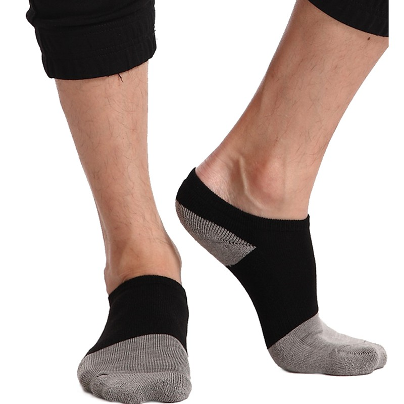 【HUSSAR】中性厚底強減震運動休閒竹炭短襪(15雙組)