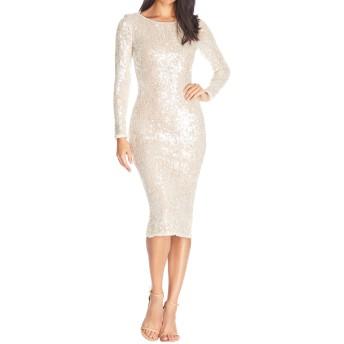 [ドレスザポプレーション] レディース ワンピース Dress the Population Susanna Sequin Long [並行輸入品]