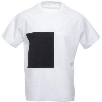 (ニールバレット) NeIL BarreTT クルーネックTシャツ XLサイズ CONTRASTING POCKET T-SHIRT IN BLACK EASY FIT コントラスティングポケットTシャツ イージーフィット [並行輸入品]