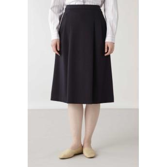 HUMAN WOMAN ヒューマンウーマン ◆ニットデニーロスカート ひざ丈スカート,ネイビー