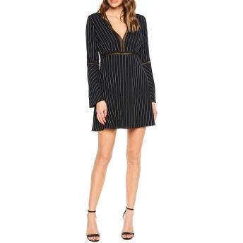 [バードット] レディース ワンピース Bardot Pinstripe Long Sleeve A-Line Dres [並行輸入品]