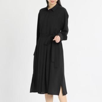 ベルブリエ 共布ベルト付 羽織れるドレス