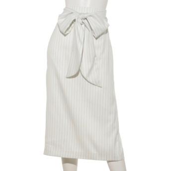 70%OFF Doux archives (ドゥアルシーヴ) ストライプロングタイトスカート OFFWHITE