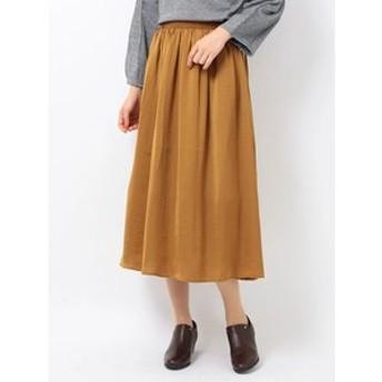 【Green Parks:スカート】e サテンギャザースカート