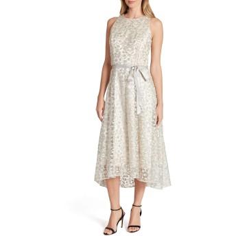 [タハリ] レディース ワンピース Tahari Embroidered Lace Midi Dress [並行輸入品]