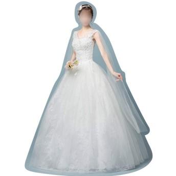細身のサイズの王女のスカートのウェディングドレス (Size : XL)
