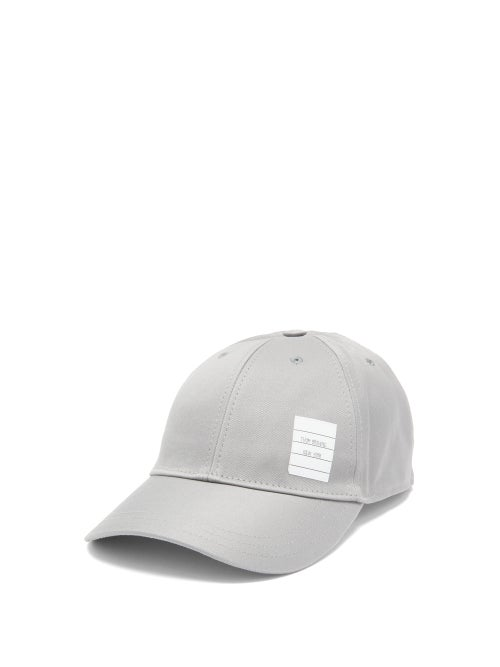 Thom Browne - Label-appliquéd Cotton-twill Cap - Mens - Grey