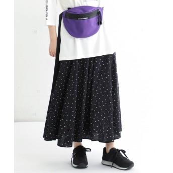 (Honeys/ハニーズ)レースアップスカート/レディース ブラック系1