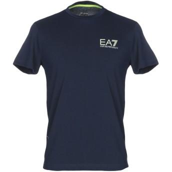 《セール開催中》EA7 メンズ T シャツ ダークブルー S コットン 68% / ポリエステル 32%