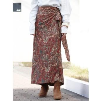 【アングリッド/Ungrid】 ペイズリーラップスカート