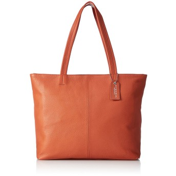 EVERWIN レザートートバッグM(日本製)○22109 オレンジ カバン・バッグ