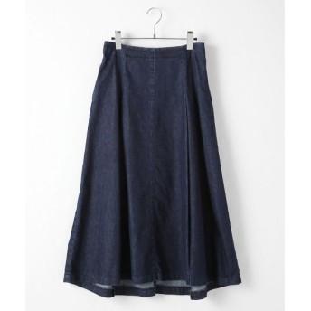 TABASA / タバサ デニムタック入りAラインスカート