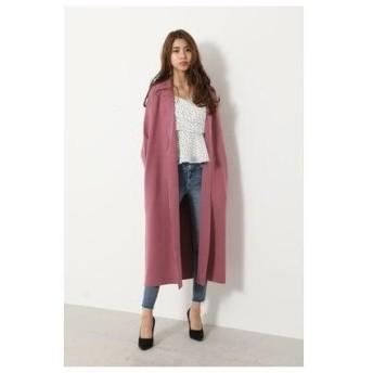 リエンダ rienda Tailored Collar Knit Jacket (ピンク)