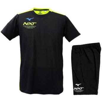 ミズノ Tシャツ・ハーフパンツ メンズ 上下 Mizuno N-XT 半袖 ドライ 野球 Sサイズ