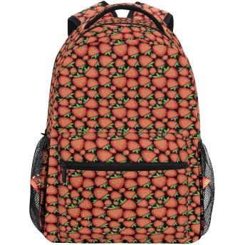 GUKISALA リュックサック、鮮やかな熟した果実とトロピカルフルーツのパターン、バックパック 男女兼用 アウトドア旅行バッグ オシャレ 可愛い 通勤 通学用 軽量 高校生