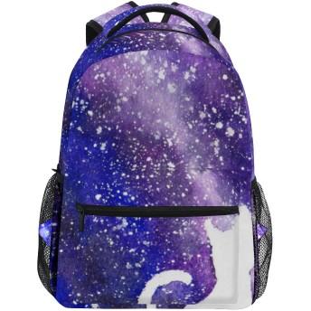 GUKISALA リュックサック、形状カップル猫銀河背景水平、バックパック 男女兼用 アウトドア旅行バッグ オシャレ 可愛い 通勤 通学用 軽量 高校生