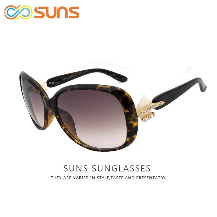 精緻淑女墨鏡 貝殼裝飾鑲鑽點綴優雅時尚太陽眼鏡流行抗UV400