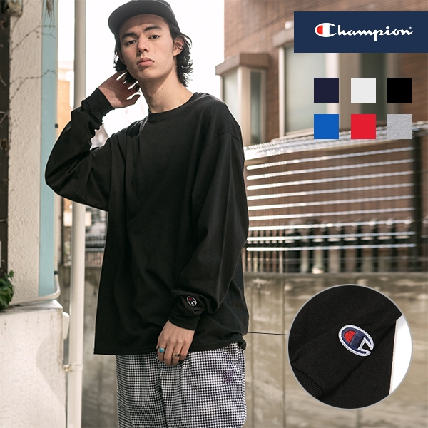 Champion 冠軍 美規 袖口刺繡 長袖素T T恤 【CHCC8C】 現貨+預購