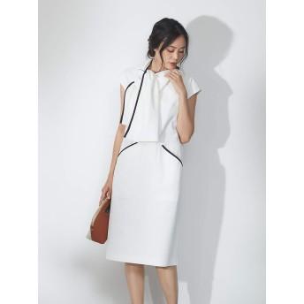 (カリテ) qualite ワンピース・ドレス ショールライクワンピース レディース オフホワイト 36(S)