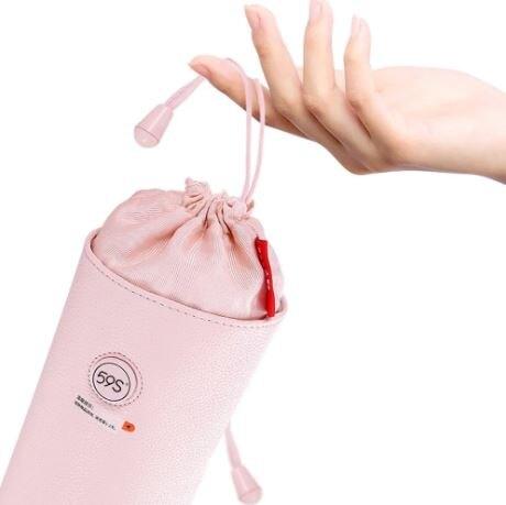 【熱銷商品 數量有限】59S P22 LED紫外線消毒收納袋 (粉色、灰色)