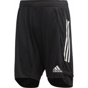 アディダス サッカー CON20 トレーニングショーツ メンズ 20Q1 BLK/WHT トレーニングウェア(fyz03-ea2498)