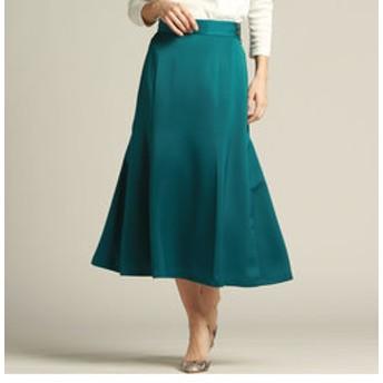 【J Lounge:スカート】スピニーサテンレディセミフレアースカート
