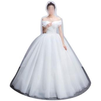 2019ドレス細い妊娠中の女性のウェディングドレスのための新しい大サイズのカスタマイズ (Size : L)