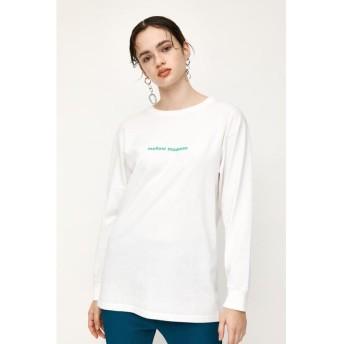 (SLY/スライ)MELLOW L/S Tシャツ/レディース WHT