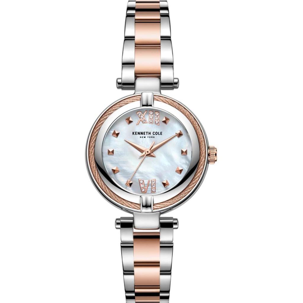 KENNETH COLE 紐約設計精品錶 KC50980003 簡約設計面盤 不鏽鋼錶帶 玫瑰金 時尚女錶 原廠公司貨