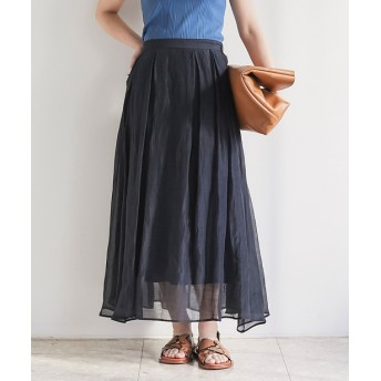 GALLARDAGALANTE(ガリャルダガランテ) レディース ラミーオーガンジースカート ブラック