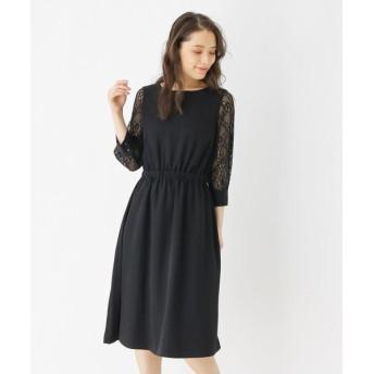 grove/グローブ 【S-LLまで】チュールスリーブドレス ブラック(019) 02(M)